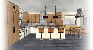 interior design sketches kitchen. Kitchen Design Line Drawing Interior Sketches Cabinets Over R