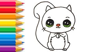 How To Draw Squirrel Easy Cute Squirrel Coloring Pages Learn