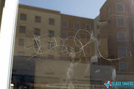 graffiti in window removed
