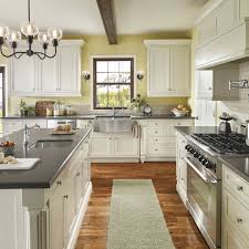 image of nice kitchen color schemes with white cabinets