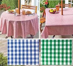 gingham umbrella hole zipper patio tablecloth 70 round or