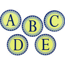 Blue Letters Blue Harmony Circle Deco Letters