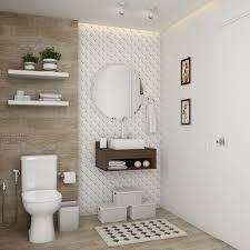 Por isso se o espaço for pequeno podem ser usadas prateleiras um pouco mais altas&nbsp. Banheiro Pequeno Planejado Foto De Banheiro Leroy Merlin