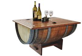 ... Coffee Table, Cool Brown Rectangle Rustic Wood Wine Barrel Coffee Table  Design Ideas As The ...