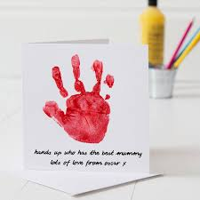 Day Cards To Print Personalised Hand Print Mother S Day Card By Twenty Seven