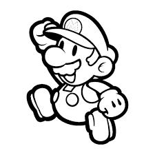 Disegno Di Super Mario Bros A Colori Per Bambini Con Moto Facile Da