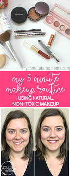 my natural non toxic 5 minute makeup routine makeup tutorial video non toxic natural chemical free 100 pure alima pure young living