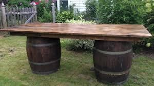 wood barrel furniture. Farm Table Tops Wood Barrel Furniture