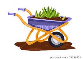 garden wheelbarrow vector farming tool
