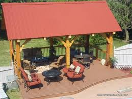 12 x 20 timber frame pavilion with metal roof