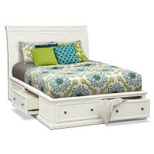 white full storage bed. Hanover Queen Storage Bed - White Full Y