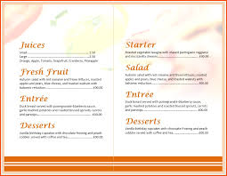 breakfast menu template free breakfast menu templates for word printables and menu