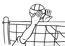 Volleyball Color Pages Girls Volleyball Team Coloring Page Pages Disney Stitch Halloween