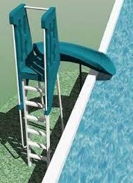 above ground pool slide. Above Ground Swimming Pool Slides. Enlarge Image \u003e Slide E