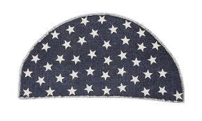 vhc brands americana rugs antique navy star half circle rug