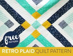Retro Plaid Free Quilt Pattern - Suzy Quilts & Retro Plaid Free Quilt Pattern Adamdwight.com