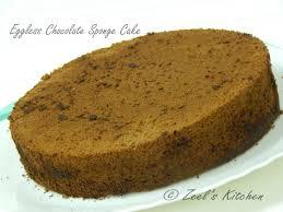 Eggless Chocolate Sponge Cake Recipe Zeels Kitchen