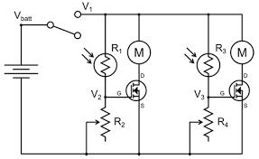 build a light tracking bristlebot circuit diagram for light following robot