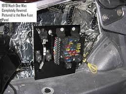 classic ford mustangs electrical systems repaired and restored pictured is the new fuse panel