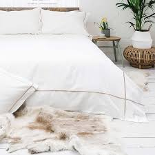400tc latte cross border corded white duvet cover