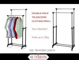 double clothes rack hanger garment hanging stand