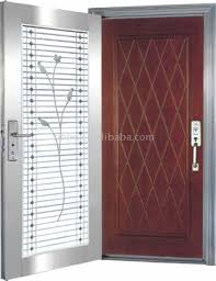 stainless steel and wood double leaf door security door metal and glass door entrance door building door front door entry door non painting door