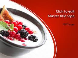 Powerpoint Templates Food Free Yogurt Powerpoint Template Free Powerpoint Templates