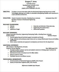 Resume Objective Statement Engineering Cover Letter Samples
