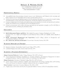 Early Childhood Education Resume Examples Of Teaching Resumes ...
