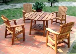 garden furniture protection round picnic table with four deck chairs wooden patio ideas wood for outdoor