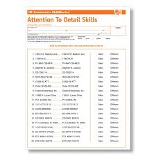 detail oriented examples attention to detail test employment tests