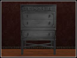 Second Life Marketplace RE Gray Chalk Painted Dresser Antique