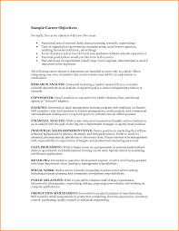 Career Goal And Objective Examples Goals And Objectives On Resume