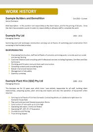 Sample Resume Mining Australia Augustais