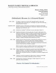Orthodontic Assistant Resume Sample Lovely 50 Fresh S Orthodontic
