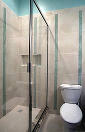 bathrooms. Wonderful Bathrooms A Residential Bathroom In The US With A Shower Railless Screen And  No Bathtub Toilet Intended Bathrooms N