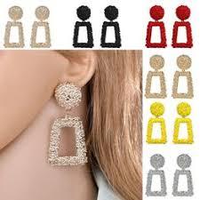 <b>Women</b> Jewelry Metal Statement Dangle Drop Earrings <b>Big Gold</b> ...