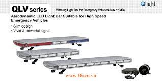 QLV-1250-12-RR Đèn hộp lightbar xe ưu tiên Qlight 1250mm Bóng LED IP56