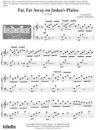 philip wesley sheet music far far away on judeas plains piano solo tonioli holy sheet