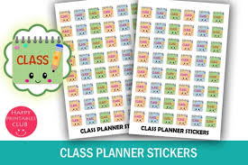 Planner Printables For Students Class Planner Stickers Student Planner Stickers Class Reminder Stickers Kawaii Planner Stickers