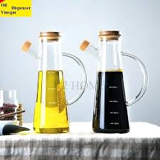 high glass olive oil vinegar pot dispenser bottles can cruet storage with handle lid bottle in gravy boats from home tinted