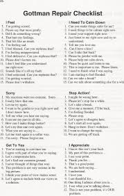 best interpersonal communication ideas what is  gottman repair checklist based on the work of dr john gottman one of the country s foremost researchers on the dynamics of relationships