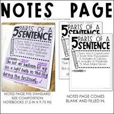 Complete Sentence Anchor Chart Grammar Anchor Chart Complete Sentences