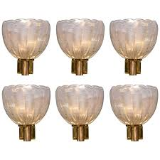 exquisite lighting. exquisite vintage murano wall lights signed barovier e toso lighting m