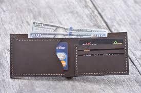 handmade personalized leather wallet leather men s bi fold pocket wallet card holder gift wallet hand stitched listing 2030