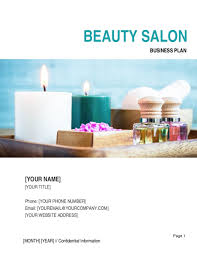 Business Plan Cover Page Beauty Salon Business Plan Template Word Pdf By Business In A Box