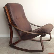 Rocking Chair Modern westnofa danish modern bent wood rocking chair leather cushion 7974 by guidejewelry.us