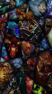 dota characters game colorful android wallpaper free download