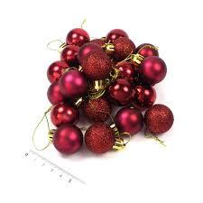 Servietten Gefaltet Kaufen 24 Kleine Weihnachtskugeln Bordeaux