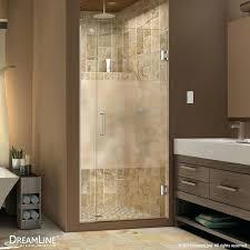 dreamline glass shower doors plus to in w x in h shower door half frosted glass nickel